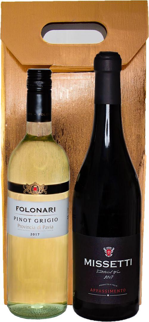 italian pair wine box
