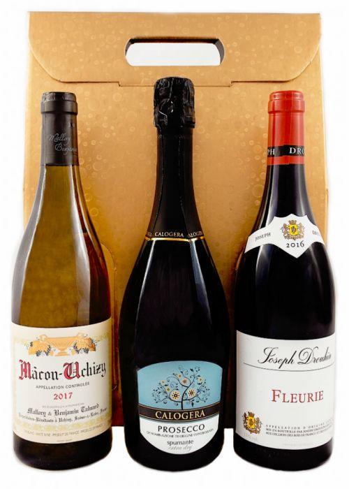 Three Wine Bottle Gift Set