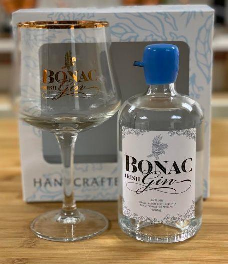 Bonac Irish Gin Half Bottle With Glass
